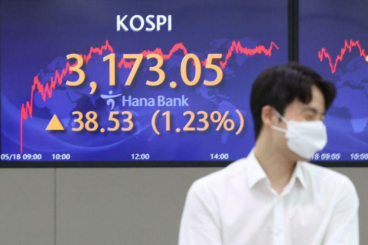 18일 서울 중구 명동 하나은행 딜링룸에서 직원들이 근무하고 있다. [이미지출처=연합뉴스]