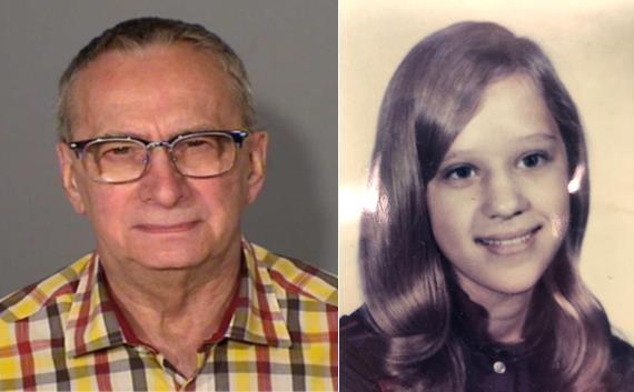 49년 전 살인 혐의로 체포된 용의자 베리 리 웰플리와 피해자 줄리 앤 핸슨. 사진=미국 일리노이주 네이퍼빌 경찰 배포
