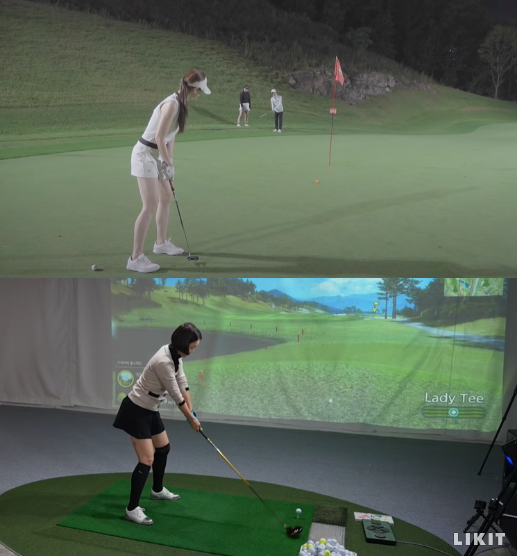 골프 콘텐츠 영상이 많은 인기를 끌고 있다. ⓒ유튜브 채널 '리쥬라이크', '완전 백지영' 화면 캡처