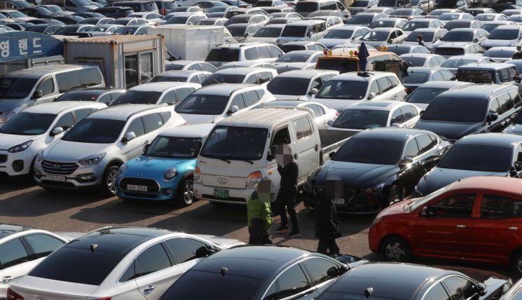 서울의 한 중고차 시장. 사진은 기사 중 특정표현과 관계없음. [이미지출처=연합뉴스]