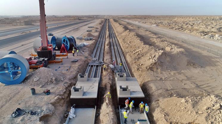 대한전선의 쿠웨이트 전력망 구축 공사 현장[사진제공=대한전선]