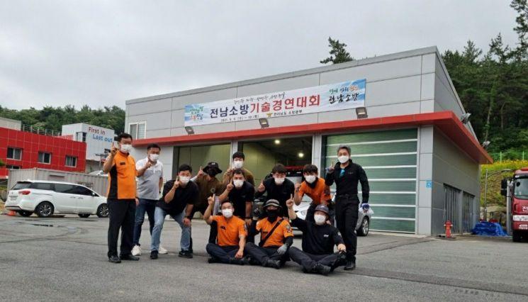 순천소방서, 전남 소방기술경연대회 전종목 석권해 종합 1위