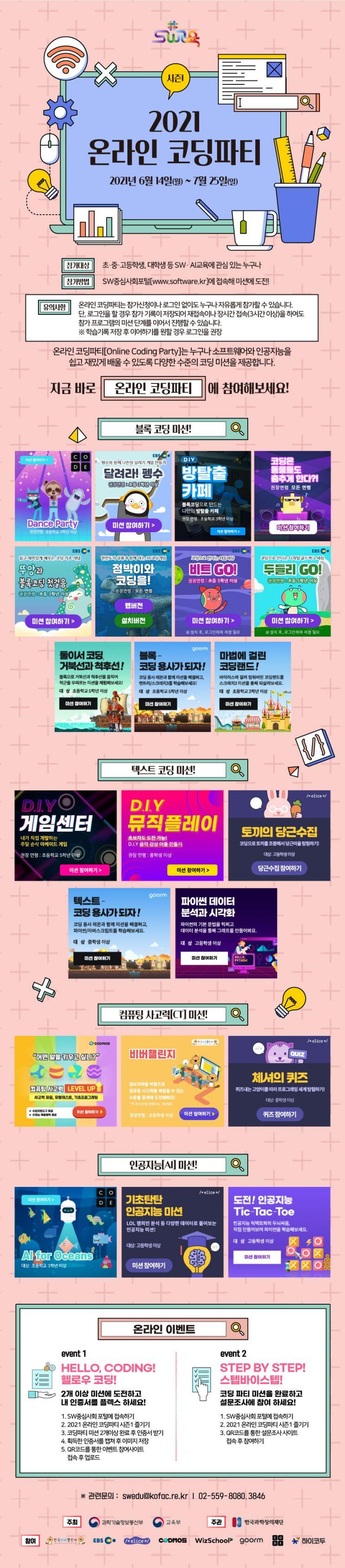 내일부터 '온라인 코딩파티 시즌1' 6주간 개최
