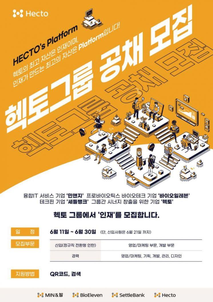 헥토 그룹, 대졸 인턴사원 및 경력직 공개 채용 실시
