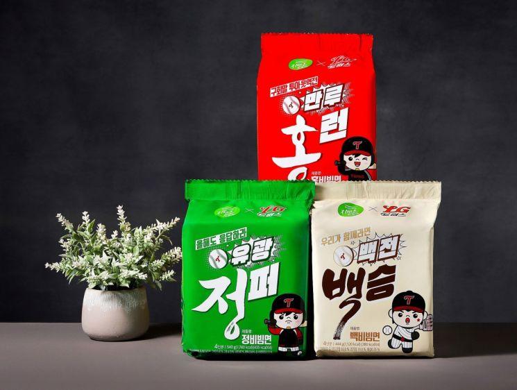 풀무원, '정·백·홍 비빔면' LG트윈스 우승 기원 한정판 출시
