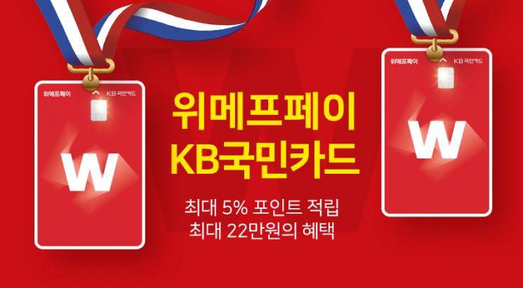 위메프-KB국민카드 손잡고 '위메프페이 카드' 출시…최대 5% 적립