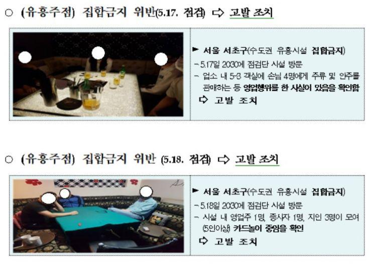 문 닫고 몰래 영업 '유흥업소'·밤 10시 넘긴 '주점'…정부합동점검, 두 달간 6630건 적발