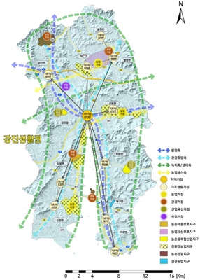 강진군 농촌공간 전략계획도 (사진=강진군 제공)