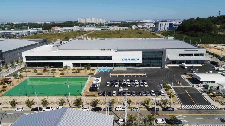 충남 아산 외곽에 위치한 전자부품 제조기업 드림텍 공장 전경. 사진제공 = 드림텍