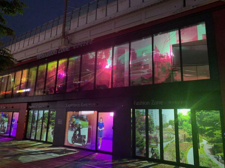 성동구 성수동 산업혁신공간 외벽 미디어 파사드(Media Facade) 설치한 까닭?