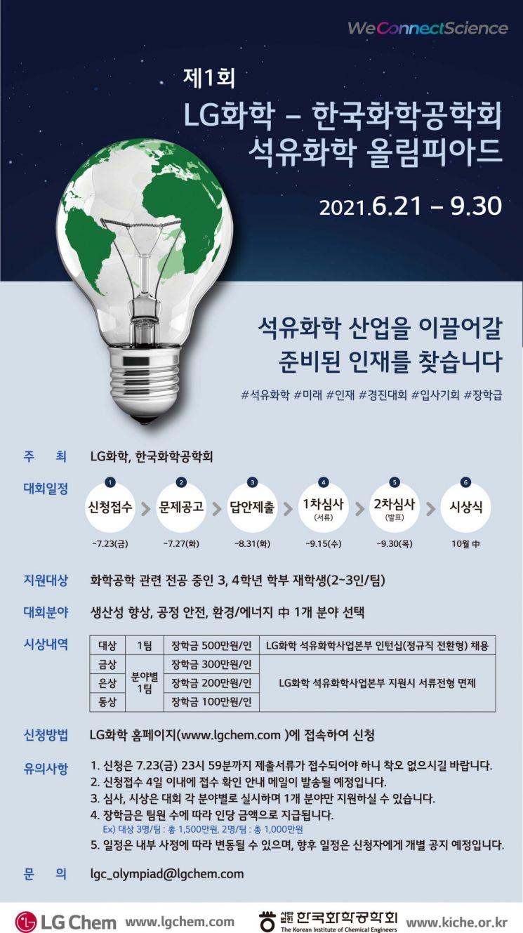 LG화학-한국화학공학회, '제1회 석유화학 올림피아드' 개최