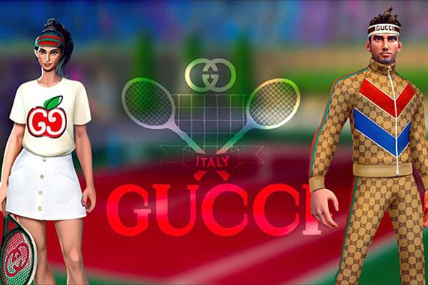 구찌가 글로벌 모바일 게임 '테니스 클래시'와 협업해 선보인 게임 화면.사진=구찌