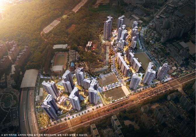 현대건설 컨소시엄이 짓는 2,417세대 대규모 단지 '평촌 트리지아'