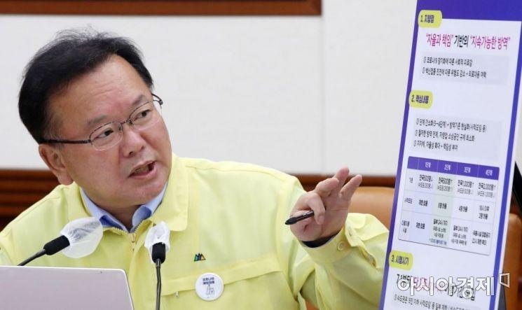 [포토] 김부겸 총리, 새로운 사회적 거리두기 체계 발표