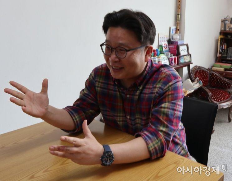 서경덕 성신여대 교수가 일본 도쿄올림픽 독도 표기 문제에 대해 설명하고 있다. 사진=황수미 인턴기자 choko216@asiae.co.kr