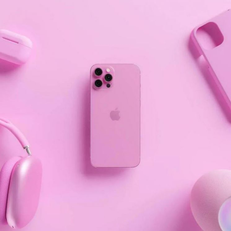아이폰13(가칭) 핑크 렌더링 이미지