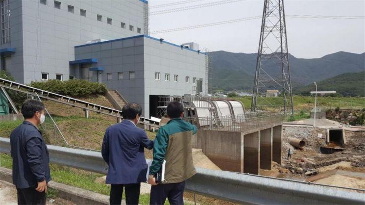 경남 양산시가 장마철에 대비해 관내 하수도 시설 공사 현장을 점검했다.[이미지출처= 양산시]