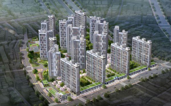 신길5동 지역주택조합 아파트 신축공사 조감도. (제공=신동아건설)