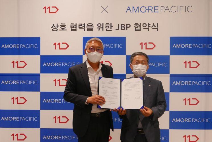 11번가와 아모레퍼시픽이 공동마케팅을 추진을 위한 전략적 비즈니스 파트너십(JBP)을 체결했다.