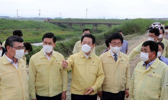 김영록 전남지사, 태풍·호우 대비 수해복구 현장 살펴