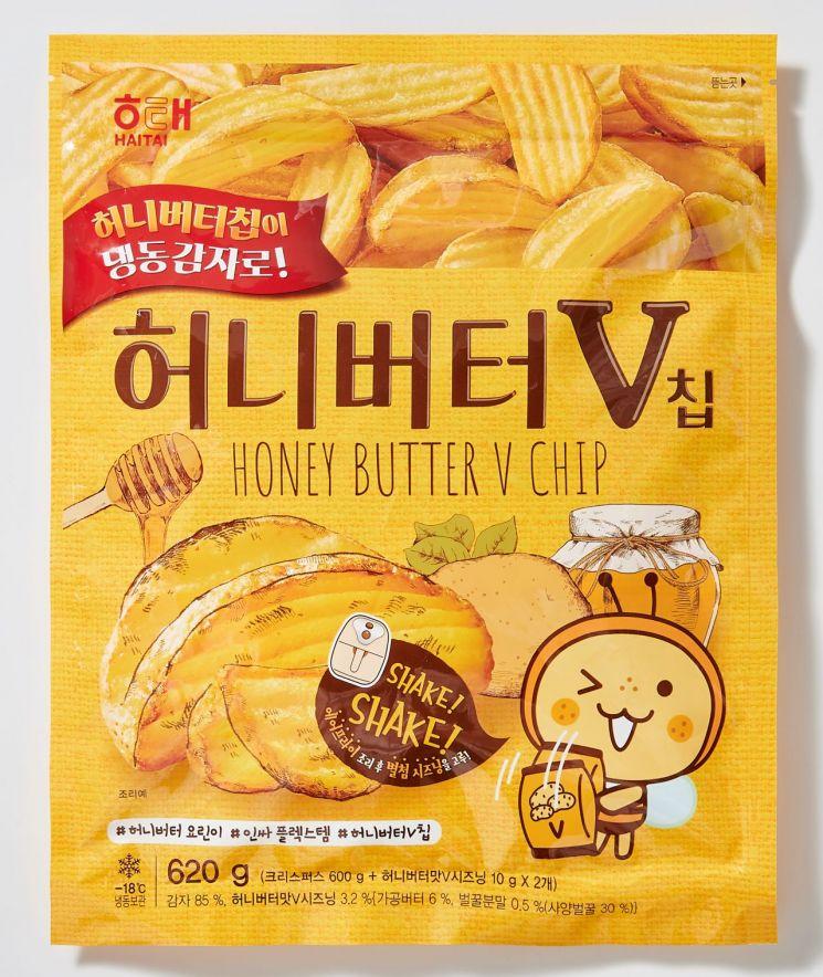롯데마트에서 판매하는 허니버터 V칩.