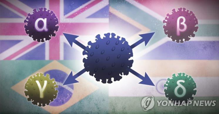 코로나 바이러스 변이(알파, 베타, 감마, 델타) [이미지출처=연합뉴스]