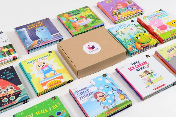 대교는 매달 새로운 주제의 영어 그림책이 제공되는 상상키즈 영어 구독서비스 '영어홈박스'를 출시했다고 25일 밝혔다. 사진제공 = 대교