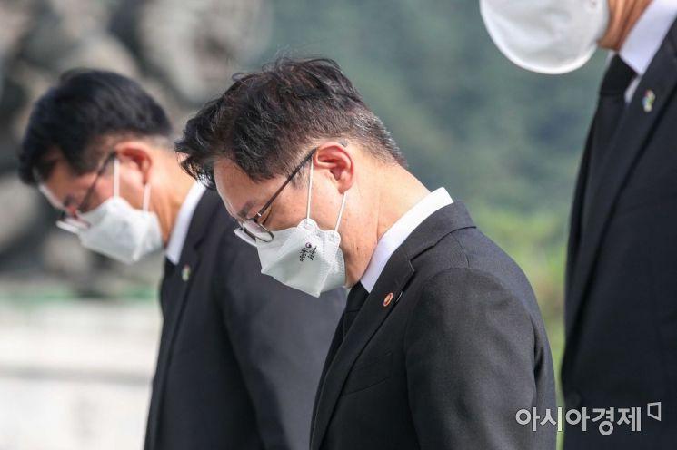 [포토]현충원 참배 나선 박범계 법무장관