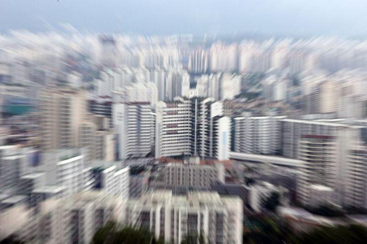 서울 불암산에서 바라본 노원구 일대 아파트 모습 [이미지출처=연합뉴스]