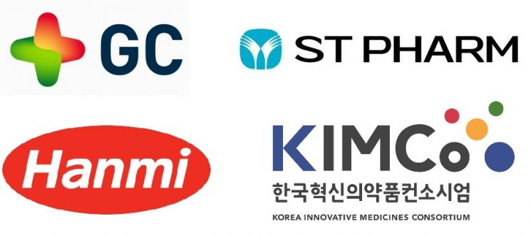 K-mRNA 컨소시엄에 참여한 한미약품, 에스티팜, GC녹십자, 한국혁신의약품컨소시엄(KIMCo) CI (사진제공=한국제약바이오협회)