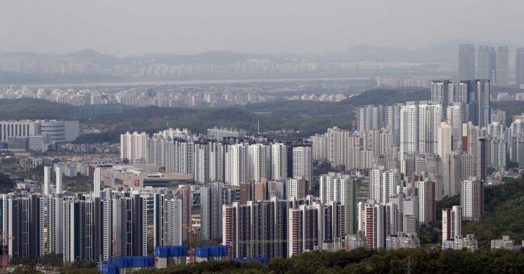 북한산에서 바라본 3기 신도시인 고양 창릉지구의 모습 [이미지출처=연합뉴스]