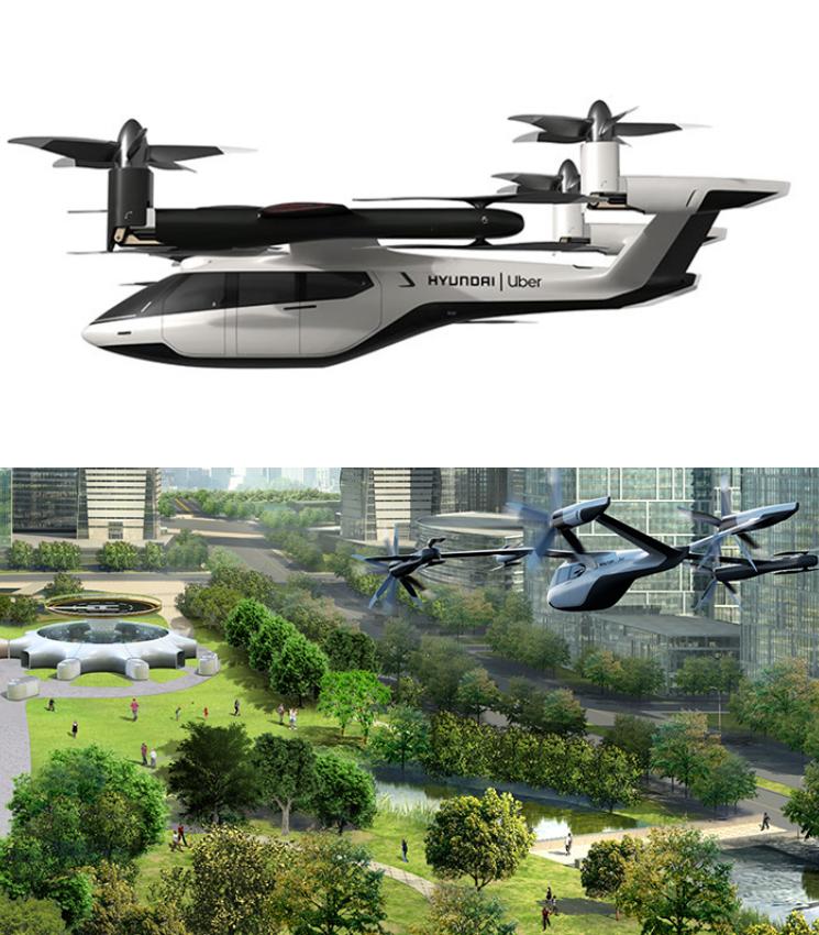 개인용 비행체 콘셉트 모델 'S-A1'. ⓒ현대자동차