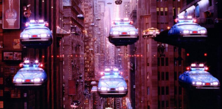 영화 속 하늘을 나는 자동차. ⓒ영화 '제5원소' 스틸컷