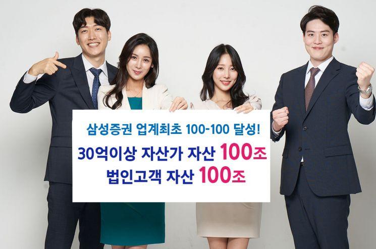 삼성증권, 업계 첫 '초고액자산가 100조·법인고객 100조' 자산 달성