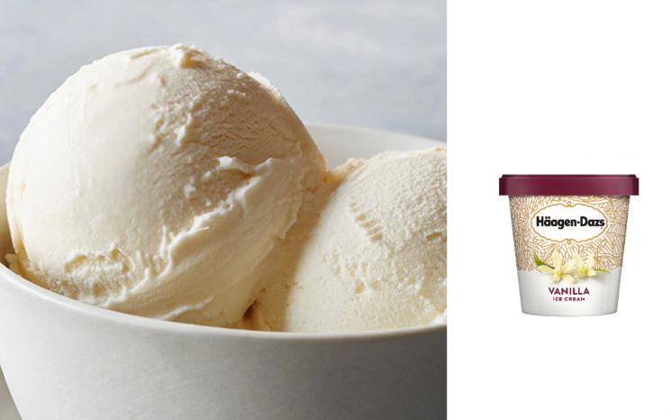 하겐다즈 바닐라 아이스크림./사진=하겐다즈 홈페이지