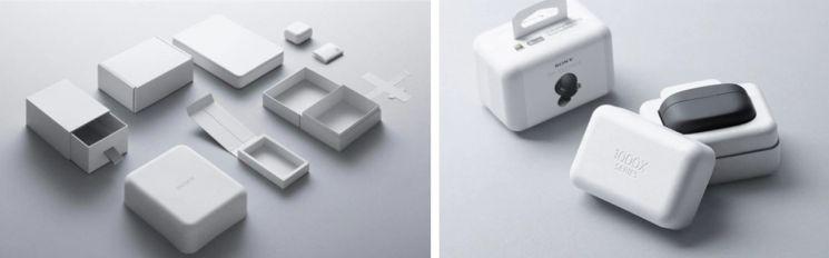 소니의 'Original Blended Material'로 제작된 포장재. 사진제공 = 소니