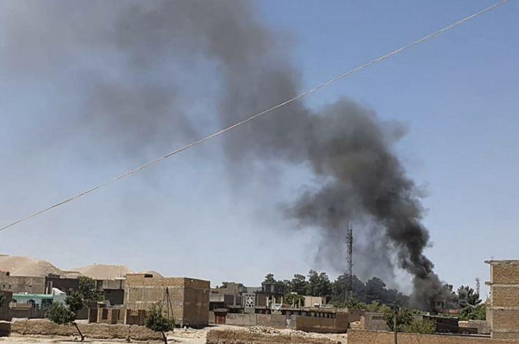 미군 철수 이후 첫 공세 나선 아프간 탈레반 반군 (칼리아이나.AFP=연합) [이미지출처=연합뉴스]