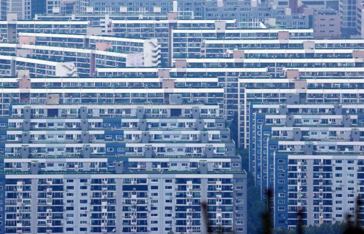 서울 대모산 전망대에서 바라본 강남구 은마아파트 [이미지출처=연합뉴스]