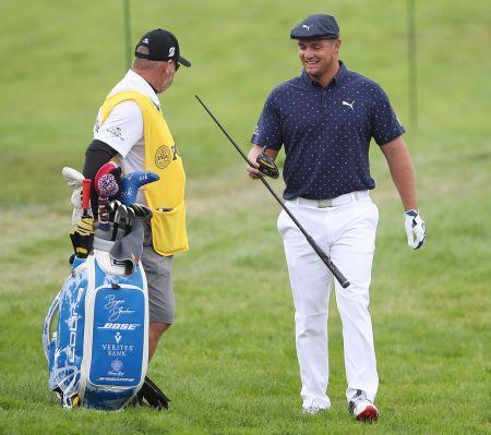 '헐크' 브라이슨 디섐보의 지난해 PGA챔피언십 첫날 드라이버가 파손된 장면.