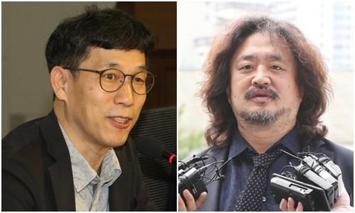 진중권 전 동양대 교수(왼쪽)와 방송인 김어준. /사진=연합뉴스