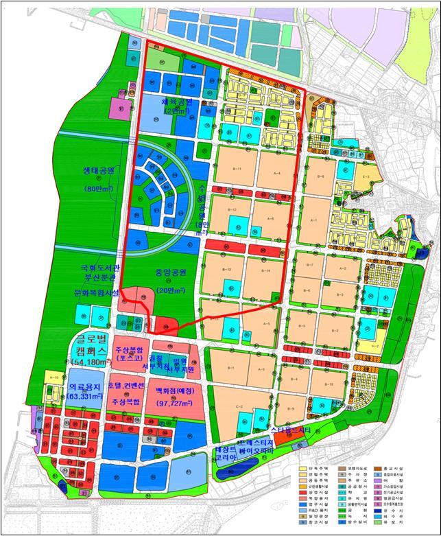 명지지구 주요시설 위치도 / LH 제공.