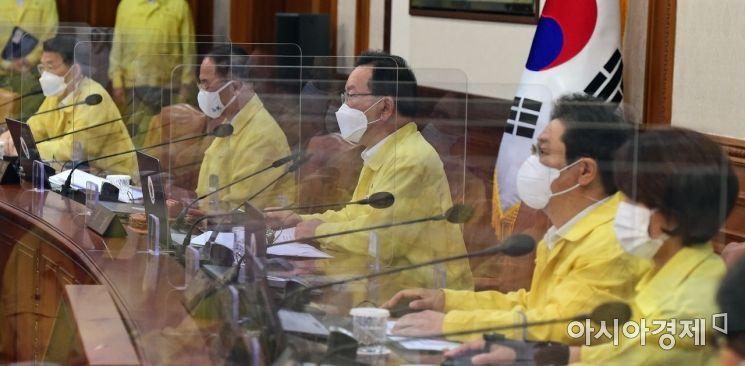 [포토] 모두 발언하는 김부겸 총리