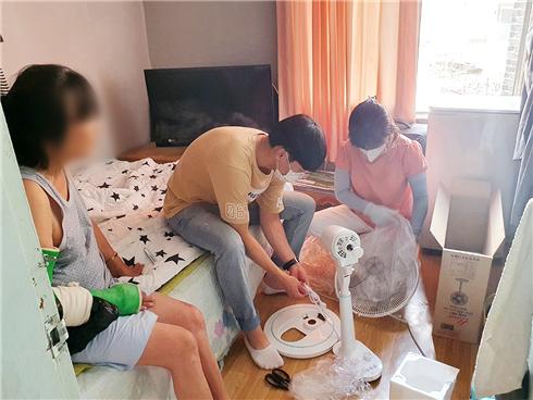 광주 서구 양동, 익명의 기부자 '선풍기' 후원