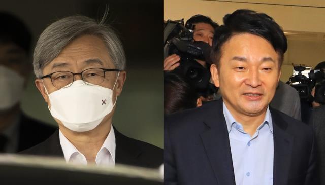 야당 대선주자인 최재형 前 감사원장(왼쪽)과 원희룡 제주지사./사진=연합뉴스