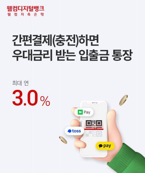 웰컴저축銀, 간편결제 연동 '모두페이 통장' 출시