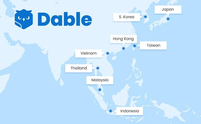 데이블, 홍콩 법인 설립 및 태국 청소년 커뮤니티 제휴