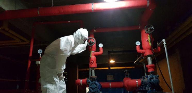 광주 광산소방서, 코로나 생활치료센터 '화재안전점검' 실시