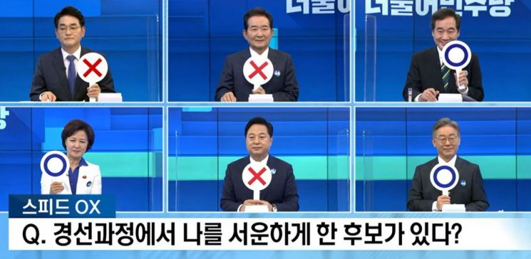"""이재명·이낙연 """"경선과정에서 나를 서운하게 한 후보 있다"""""""