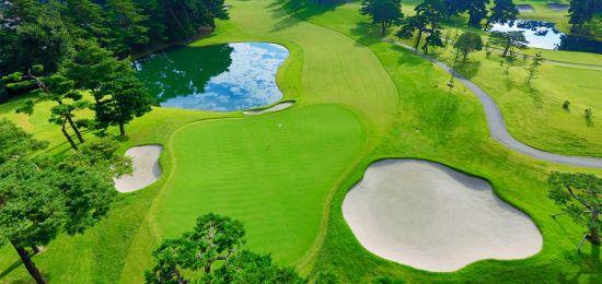 도쿄올림픽 골프 개최지 가스미가세키골프장의 최대 승부처 18번홀. 사진출처=가스미가세키골프장 홈페이지
