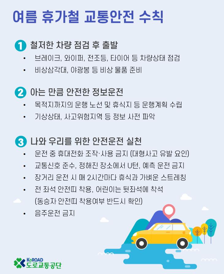 교통사고 늘어나는 휴가철…20대 렌터카·피서지 안전운전 필수